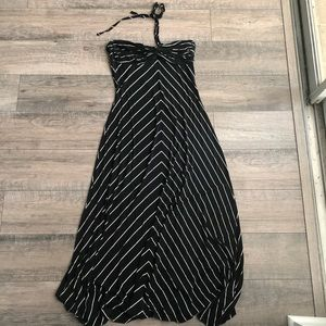 Striped Jennifer Lopez maxi dress